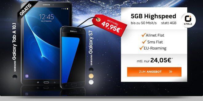 Galaxy S7 + Tab A mit 5GB LTE nur 24,05€ mtl.