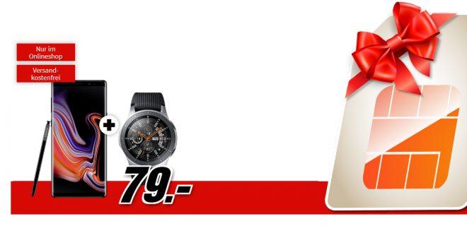 Galaxy Note9 & Galaxy Watch mit 2 GB LTE nur 26,99€