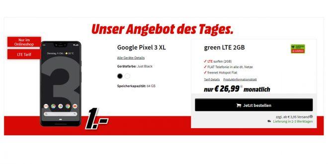 Google Pixel 3 XL mit 2 GB LTE nur 26,99€