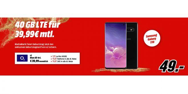 Galaxy S10 mit 40GB LTE nur 39,99€