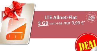 5 GB LTE Allnet + monatlich kündbar nur 9,99€