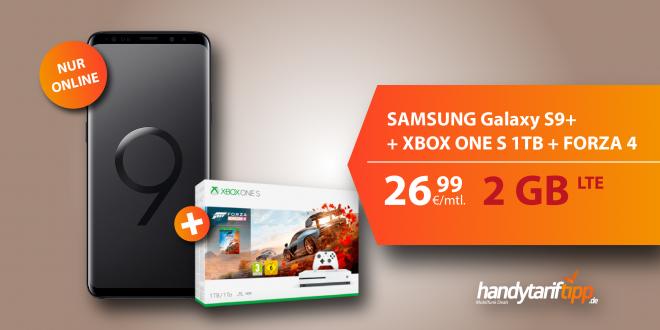 Galaxy S9+ mit Xbox One S nur 26,99€