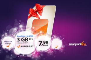 4GB LTE Allnet monatlich kündbar nur 7,99€