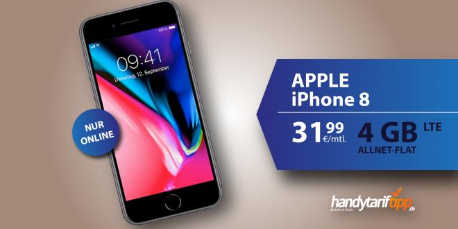 iPhone 8 mit 4GB LTE nur 31,99€