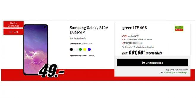 Galaxy S10e mit 4 GB LTE nur 31,99€