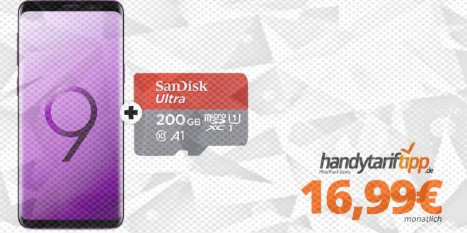 Galaxy S9 + 200GB SD und Allnet nur 16,99€