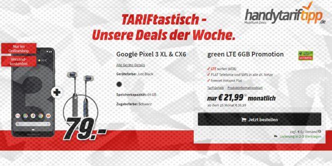 Google Pixel 3 XL & CX6 mit 6 GB LTE nur 21,99€