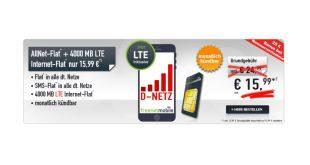 4 GB LTE +monatlich kündbar+ Vodafone nur 15,99€