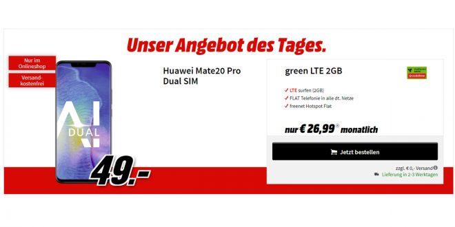 Huawei Mate20 Pro mit 2GB LTE nur 26,99€