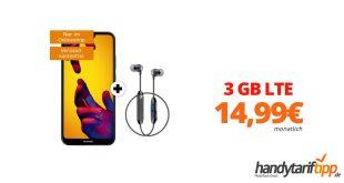 P20 lite & Sennheiser CX6 mit 3 GB LTE nur 14,99€