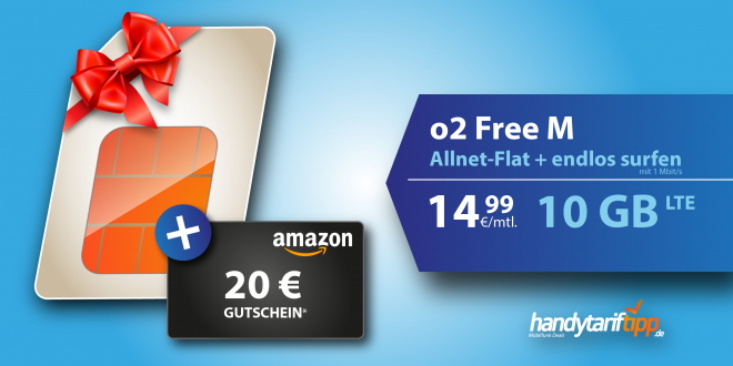 AKTION O2 FREE M 10GB LTE 14,99€