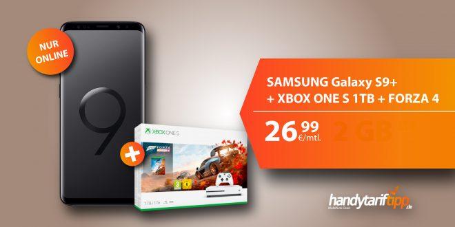 Galaxy S9+ mit Xbox One S + 4 GB LTE nur 26,99€