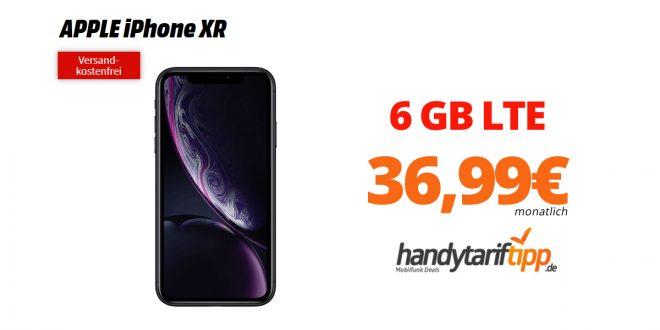 iPhone XR mit 6 GB LTE nur 36,99€