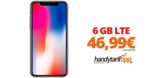 iPhone X mit 6 GB LTE nur 46,99€