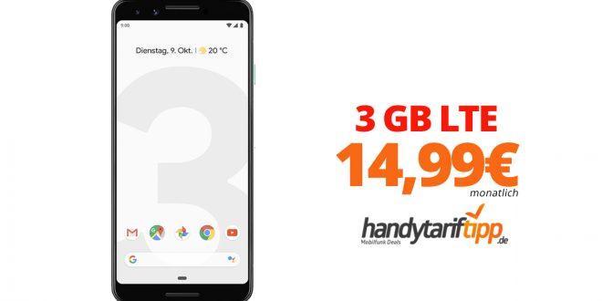 Google Pixel 3 mit 3 GB LTE nur 14,99€