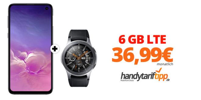 Galaxy S10Plus & Galaxy Watch mit 6 GB LTE nur 36,99€