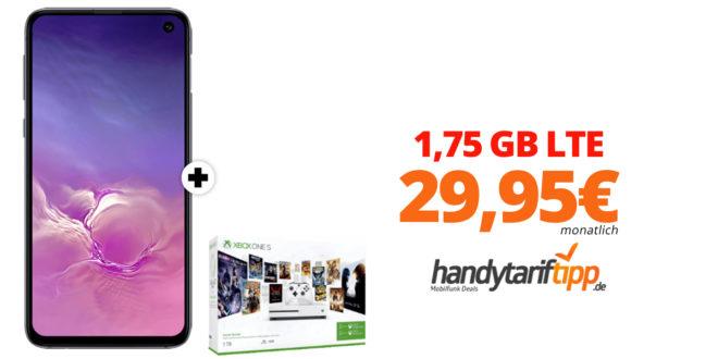 Galaxy S10e & Xbox mit 1,75 GB LTE nur 29,95€