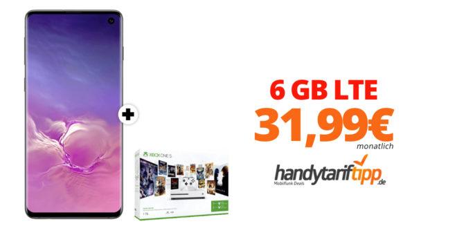 Galaxy S10 & Xbox mit 6 GB LTE nur 31,99€