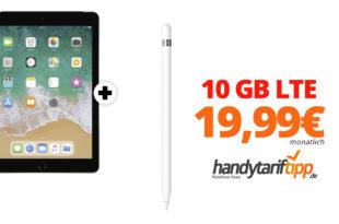 APPLE iPad 2018 & Apple Pencil mit 10 GB LTE Telekom nur 19,99€