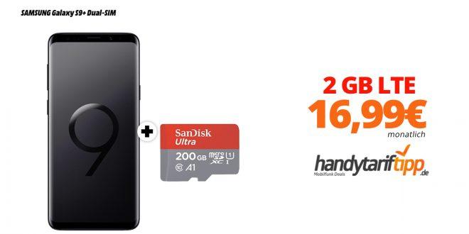 Galaxy S9+ mit 2 GB LTE nur 16,99€