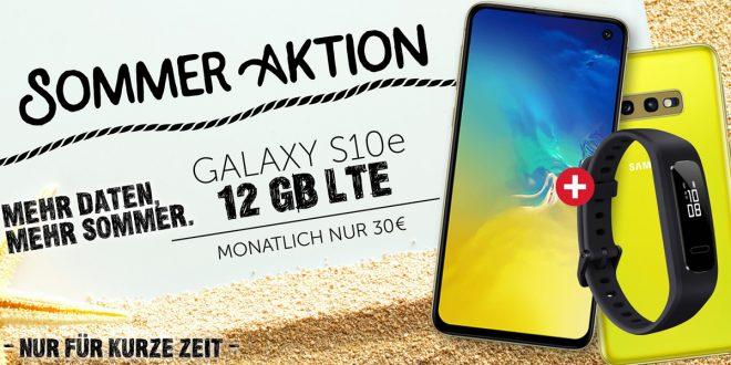 Galaxy S10e + 12 GB LTE im Telekom Netz nur 30€