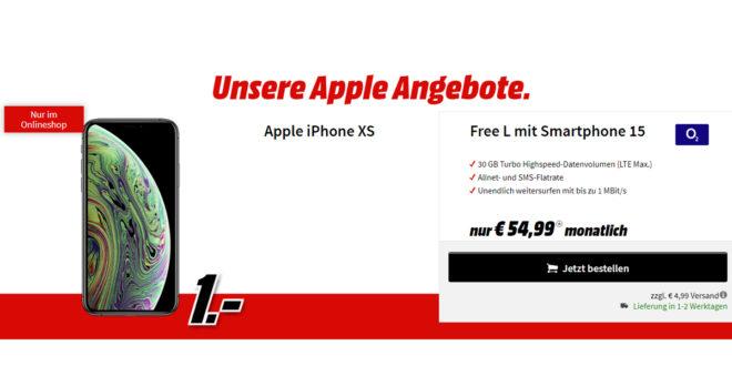 Apple iPhone XS mit 30 GB LTE nur 54,99€