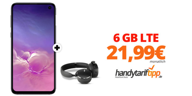 Galaxy S10e & AKG Y500 mit 6 GB LTE nur 21,99€