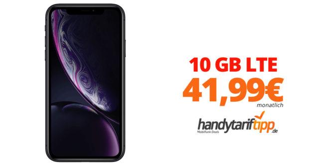 APPLE iPhone XR mit 10 GB LTE nur 41,99€