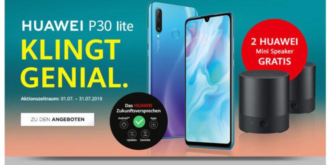 Huawei P30 lite + 2 Mini Speaker und 8 GB LTE nur 20€