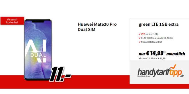 Mate20 Pro mit 1GB LTE Allnet nur 14,99€