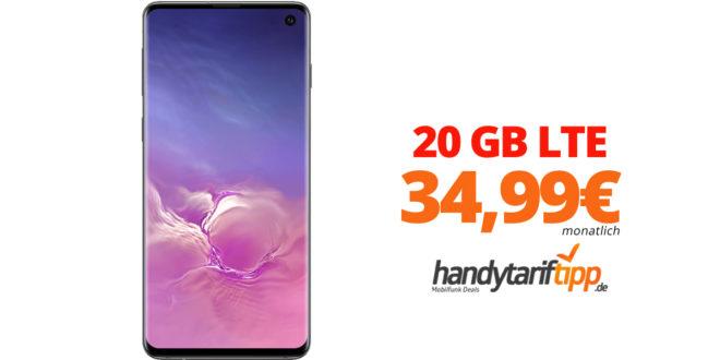 Galaxy S10 mit 20 GB LTE nur 34,99€