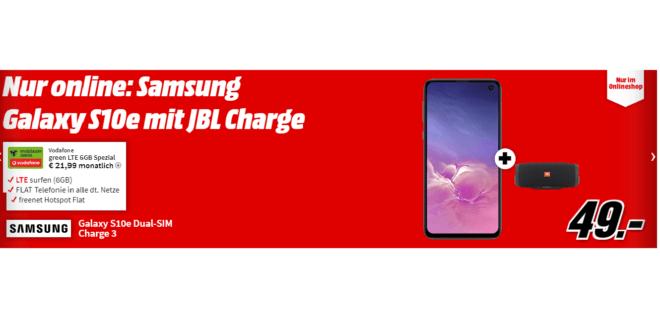 Galaxy S10e & JBL Charge 3 mit 6 GB LTE nur 21,99€