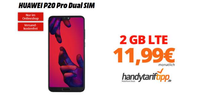 HUAWEI P20 Pro mit 2 GB LTE nur 11,99€