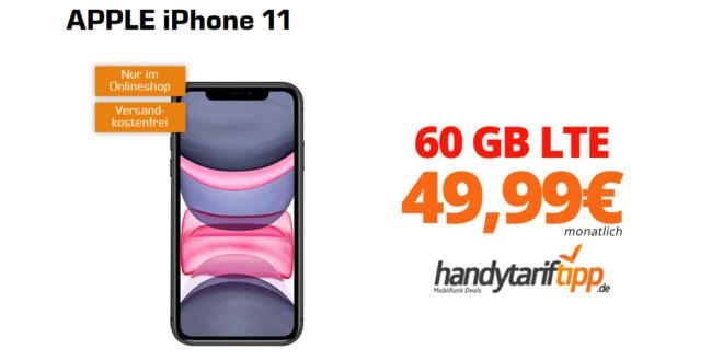 APPLE iPhone 11 mit 60 GB LTE nur 49,99€