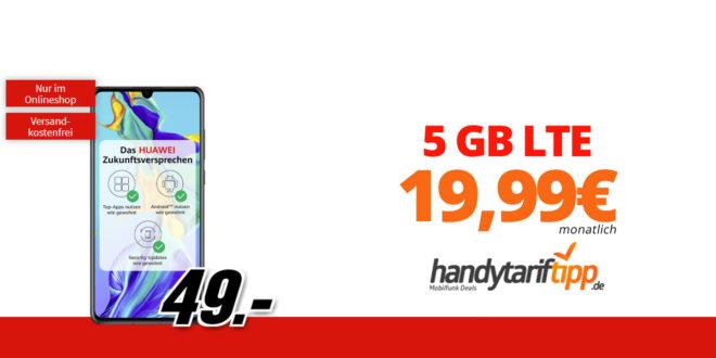 Huawei P30 mit 5 GB LTE nur 19,99€