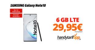 Galaxy Note10 mit 6 GB LTE Telekom nur 29,95€
