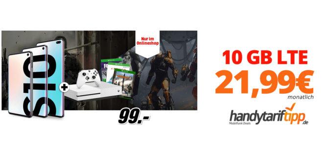 Galaxy S10e & Xbox One S mit 10 GB LTE nur 21,99€