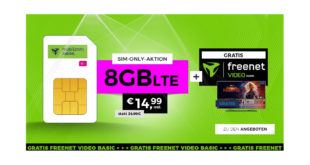 Telekom 8 GB LTE mit freenet Video nur 14,99€