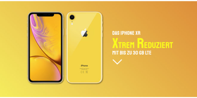 APPLE IPHONE XR mit 20 GB LTE nur 34,99€