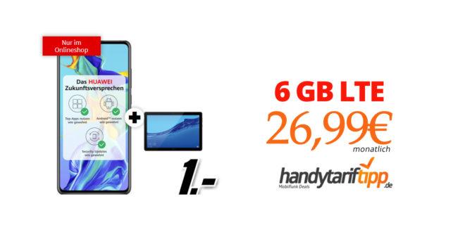 Huawei P30 & Mediapad T5 mit 10 GB LTE nur 26,99€