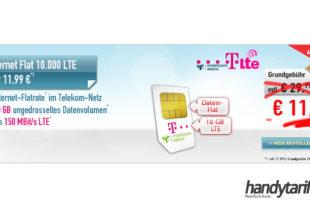 Telekom Internet Flat 10GB LTE nur 11,99€