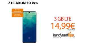 ZTE AXON 10 Pro mit 3 GB LTE nur 14,99€