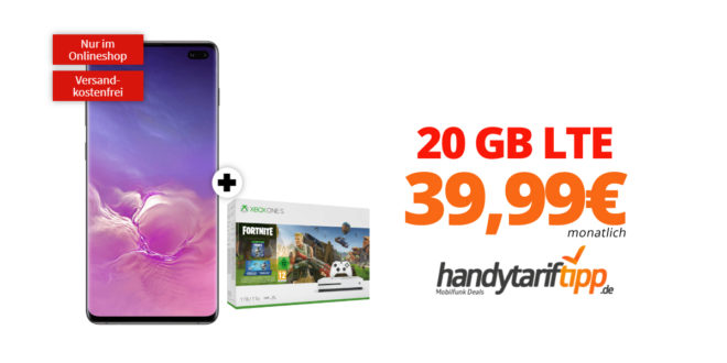 Galaxy S10+ & Xbox one S 1TB mit 20GB LTE nur 39,99€