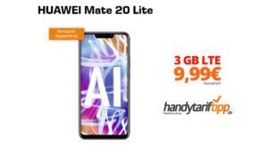 HUAWEI Mate 20 Lite mit 3 GB LTE nur 9,99€