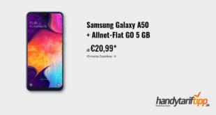 SAMSUNG GALAXY A50 mit 5 GB LTE nur 20,99€