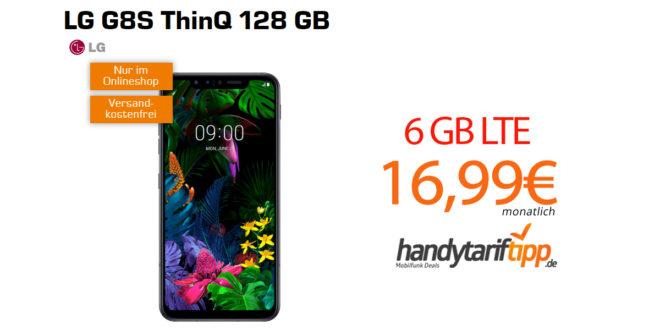 LG G8S ThinQ 128 GB mit 6 GB LTE im Telekom Netz nur 16,99€