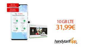 HUAWEI P30 Pro Dual & Xbox One S mit 10GB LTE nur 31,99€