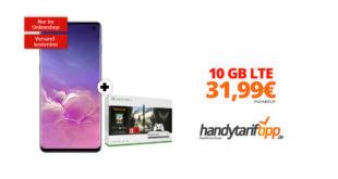 Galaxy S10 & Xbox One S mit 10GB LTE nur 31,99€