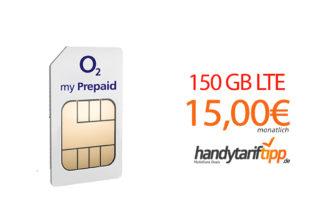 150 GB LTE für 15 Euro und 28 Tage