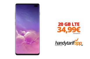 Galaxy S10+ mit 20 GB LTE nur 34,99€